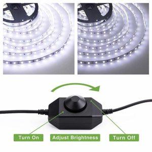 Bande LED 10 mètres Lumière du Jour 6000K avec variateur